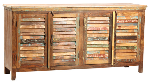 Dovetail Furniture - Nantucket Louvered Sideboard - NE92