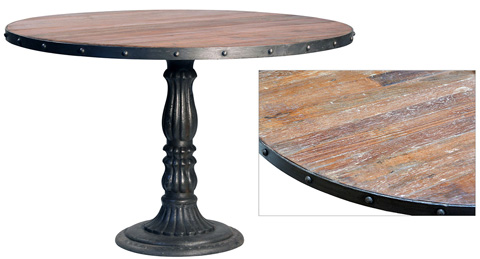 Dovetail Furniture - Iron Round Dining Table - RA5137