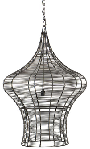 Dovetail Furniture - Coraline Hanging Light-Small - AN002S