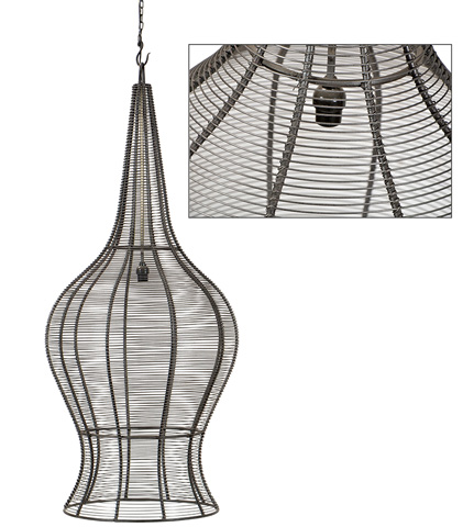 Dovetail Furniture - Constance Hanging Light-Large - AN003L