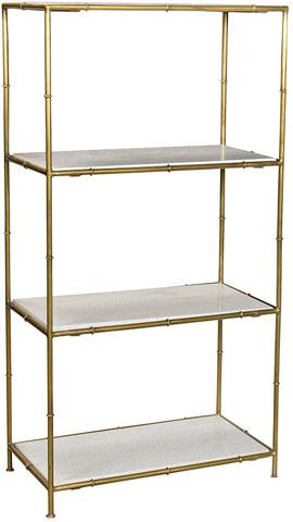 Dovetail Furniture - Iron Marble Shelf - AN046