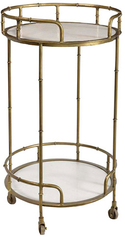 Dovetail Furniture - Iron Marble Wine Trolley - AN047