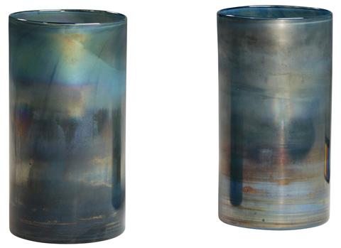 Dovetail Furniture - Glass Cylinder-Set Of 2 - DOV3477