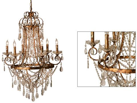 Dovetail Furniture - Lille Chandelier - DOV4703
