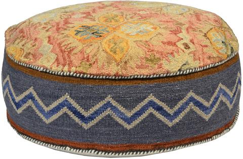 Dovetail Furniture - Dhara Pouf - DOV8203