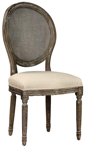 Image of Dining Chair With Rattan Back