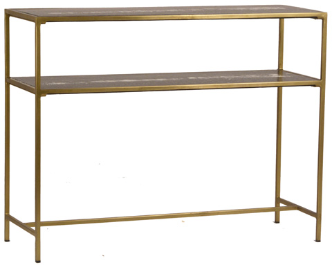 Dovetail Furniture - Higgins Console in Brass Finish - AO210