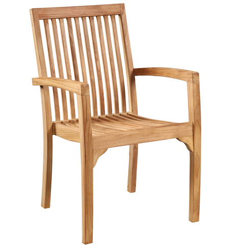 Dovetail Furniture - Outdoor Stacking Chair - BJ002