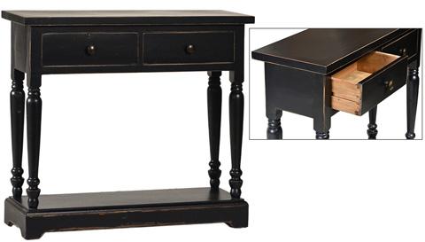 Dovetail Furniture - Bo Console Table in Black - DOV1033BK