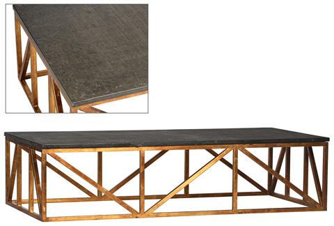 Dovetail Furniture - Albany Coffee Table in Black - DOV2116