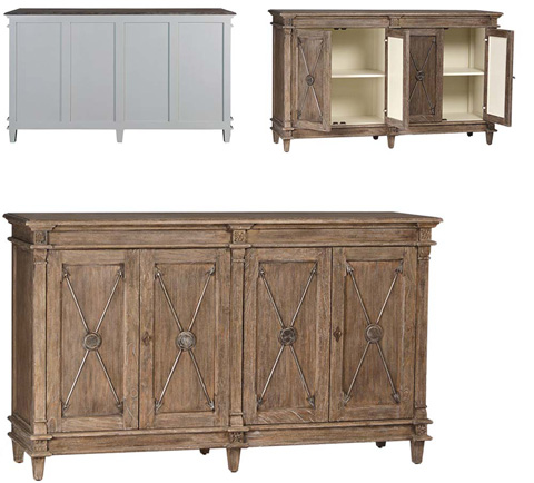 Fulton sideboard dov2375 dovetail furniture buffets for Dovetail furniture