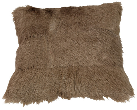 Dovetail Furniture - Fur Pillow in Brown - DOV3234