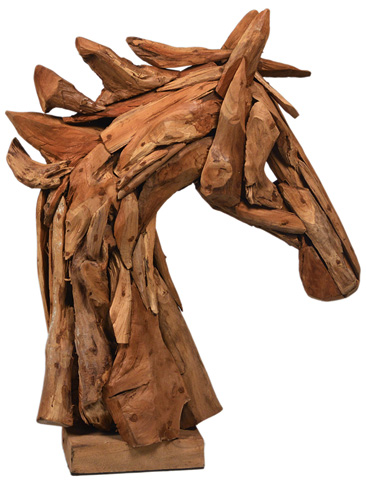 Dovetail Furniture - Wooden Horse Head - NEB002