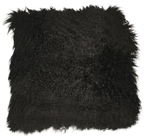 Dovetail Furniture - Mohair Pillow in Black - DOV11001