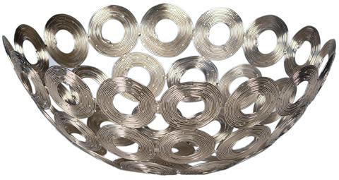 Dovetail Furniture - Silver Wire Disc Bowl - DOV8610