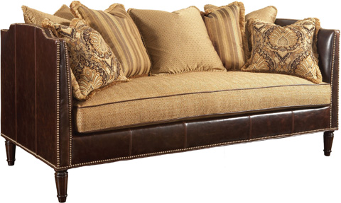 Drexel Heritage - Hardwick Leather and Fabric Mid Sofa - L1799-MS