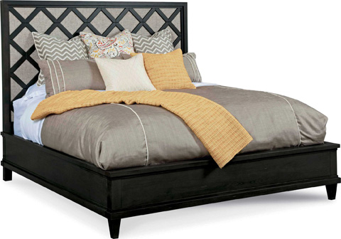 Image of Stencil Panel Bed in Queen