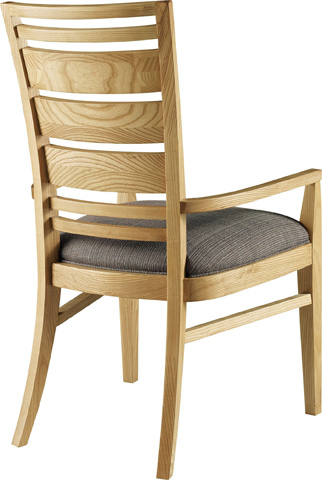 Image of Slat Back Dining Arm Chair