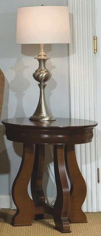 Durham Furniture Inc - Louis Phillipe Round Lamp Table - 900-538C