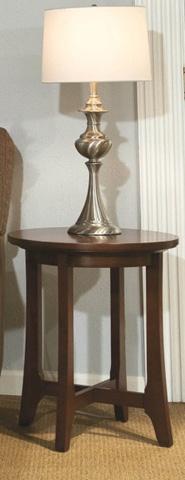 Durham Furniture Inc - Westwood Round Lamp Table - 900-538S
