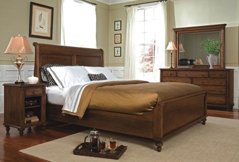 Durham Furniture Inc - Low Sleigh Bed - 980-127B