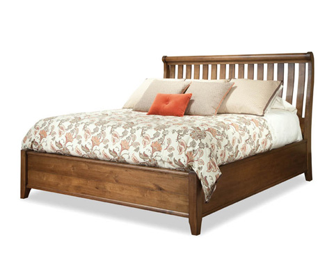 Durham Furniture Inc - King Sleigh Bed - 301-147