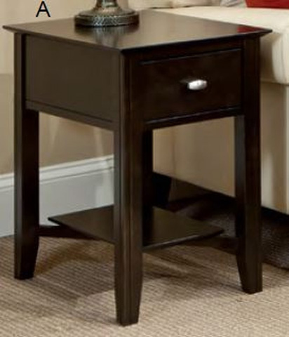 Durham Furniture Inc - Eclectic Shelf End Table - 900-533G