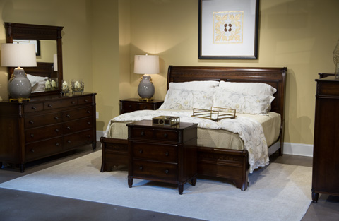 Image of Architect Collection Queen Sleigh Bedroom Set