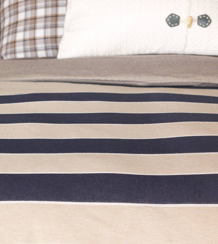 Eastern Accents - Abbot Indigo Duvet Cover And Comforter-King - DVK-347