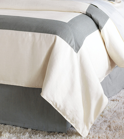 Image of Breeze Pearl/Slate Duvet Cover And Comforter-King