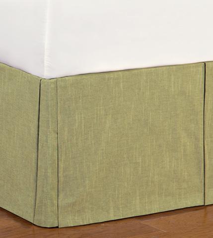Image of Duvall Green Bed Skirt -King
