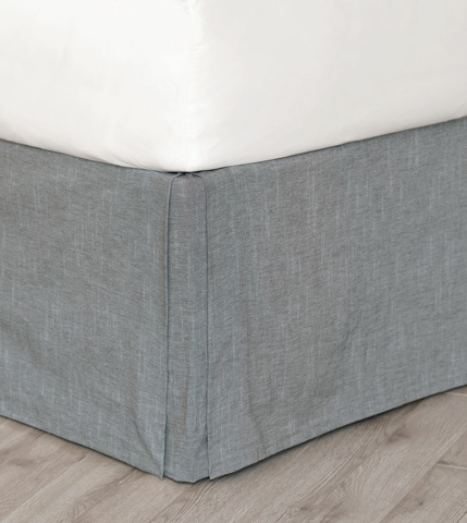 Image of Duvall Slate Bed Skirt -King