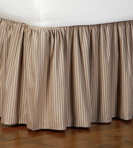 Image of Heirloom Tobacco Skirt Ruffled -King