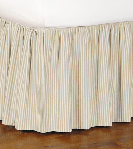 Image of Heirloom Vanilla Skirt Ruffled -King
