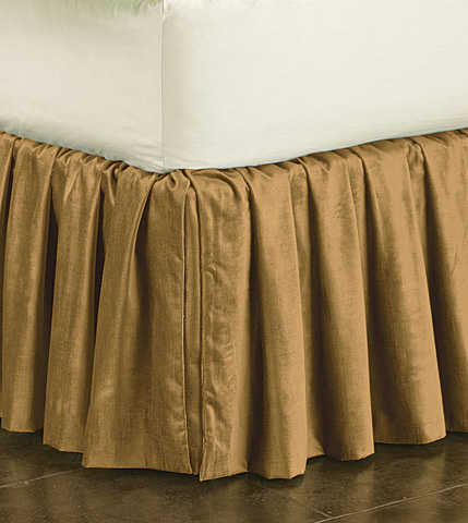 Image of Lucerne Gold Skirt Ruffled -King