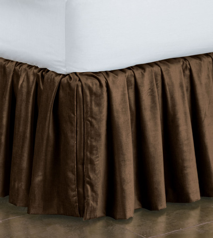 Image of Lucerne Mocha Skirt Ruffled -King