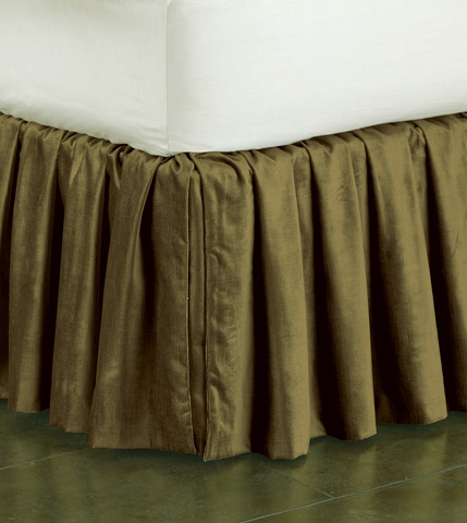 Image of Lucerne Olive Skirt Ruffled -King