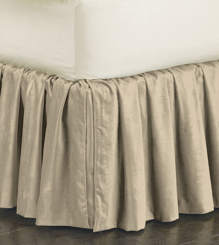 Image of Lucerne Taupe Skirt Ruffled -King