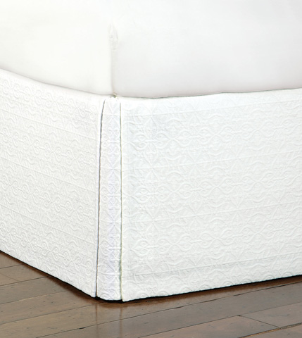 Image of Mea White Bed Skirt -King