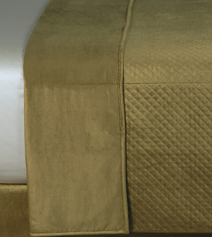 Image of Reuss Olive Coverlet -King