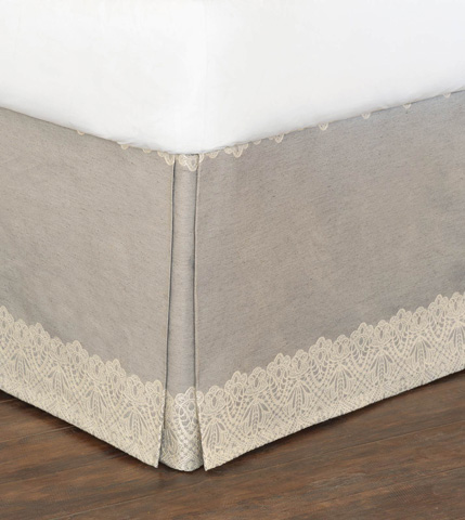 Eastern Accents - Thayer Silver Bed Skirt -King - SKK-365