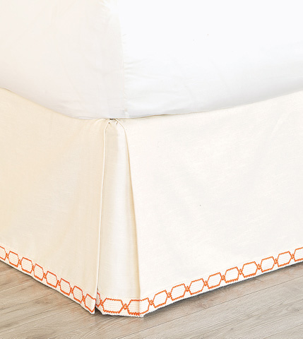Eastern Accents - Witcoff Ivory Bed Skirt -King - SKK-357