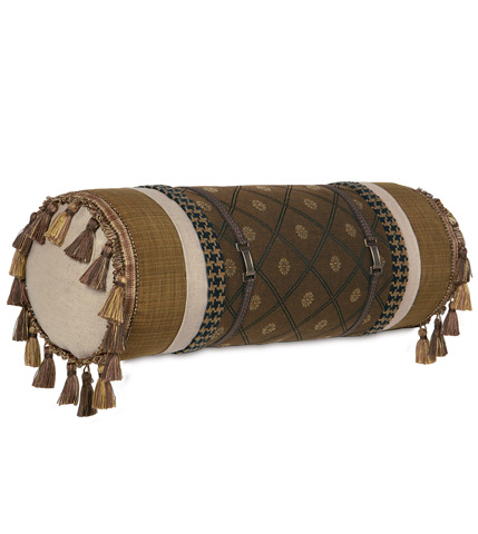 Eastern Accents - Birkdale Chocolate Insert Bolster - BOL-310