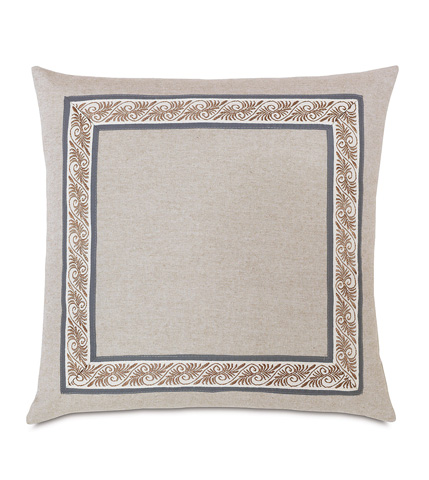 Eastern Accents - Greer Linen With Mitered Border Pillow - EDI-07