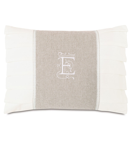Eastern Accents - Greer Linen Insert With Monogram Pillow - EDI-12