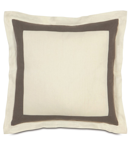 Eastern Accents - Breeze Pearl/Clay Euro Sham - EUS-301