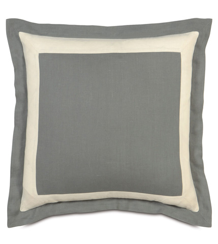 Eastern Accents - Breeze Slate/Pearl Euro Sham - EUS-304