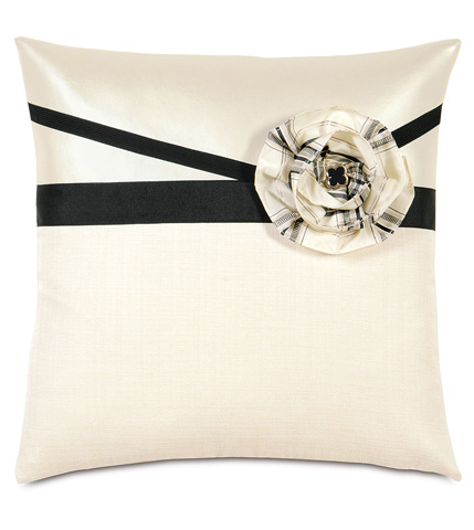 Image of Klein Shell With Flower Throw Pillow