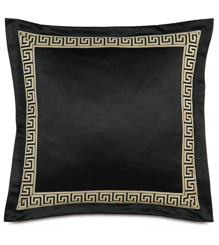 Image of Witcoff Black Pillow With Border