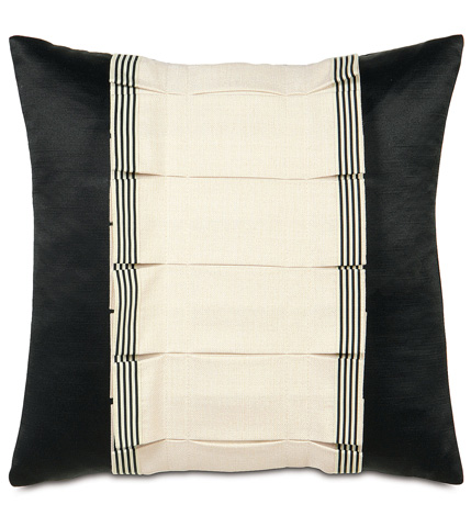 Image of Folly Parchment Tuxedo Ruffle Pillow